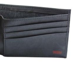 NEW LEVI'S PREMIUM CLASSIC LEATHER BIFOLD ID CREDIT CARD WALLET BLACK 31LV13A7 image 4