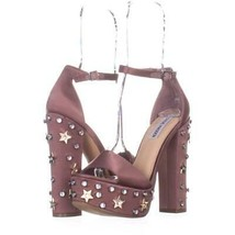 Steve Madden Glory Platform Studded Dress Sandals 894, Dusty Rose, 7.5 US - $53.75