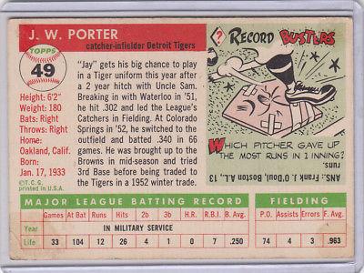 1955 Topps 49 J.W. Porter Not Graded