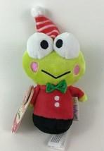 """Holiday Keroppi Itty Bittys Plush Frog Toy 4.5"""" Hallmark Sanrio 2016 - $9.85"""