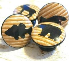 "Handmade 1.5"" Wildlife Animal Knobs, Set of 4 Knob Drawer Pulls, Lodge S... - $27.72"