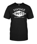 Funny Vintage 1973 45th Birthday Gift T shirt Best Emoji Tee - $17.99+