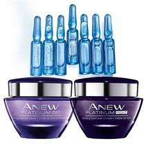 Avon Anew Platinum Day & Night Cream & Skin Reset Plumping Shots - NEW &... - $31.86