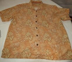 Tommy Bahama silk Men's short sleeve button up shirt L multi colors print GUC - $39.59