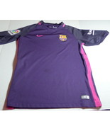 Nike FCB Soccer Jersey Dri-Fit  Polyester Youth L Unicef beko unhemmed sleeves - £9.26 GBP