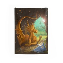 Princess & Dragons Reading Time Indoor Wall Tapestries - $23.16