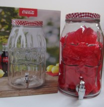 Coca-Cola Large Glass Beverage Dispenser - HOLDS 2 GALLONS! - $29.69