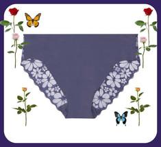 L Royal Crown Blue Full Lace Back Victorias Secret No Show High-leg Chee... - $10.99