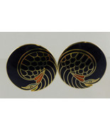 LAUREL BURCH Black Mynah Bird Vintage Clip-on E... - $530,51 MXN