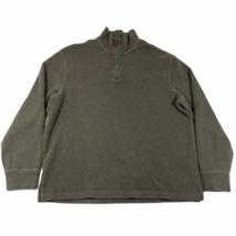 Polo Ralph Lauren 1/4 Zip Pullover Sweater Jumper Sz L Green Cotton Purp... - $17.75