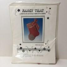 Crimson & Gold Mini Stocking Needlepoint Kit Fancy That  - $19.34