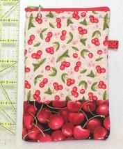 Zippered Cell Phone Case - Medium - Little Cherries - ZPC - $4.00