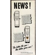ORIGINAL 1940 Ethyl Leaded Gas Printed Ad The Better The Gas The Better ... - $11.69