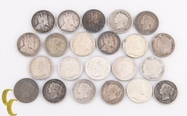 1874-1920 Canada 5 Cents Lot G-AU 22 coin Sterling Silver Five 5c KM-2 1... - $345.51