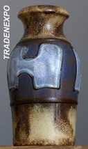 Vintage 70's SCHEURICH Keramik 523-18 Vase Abstract West German Pottery ... - $17.81