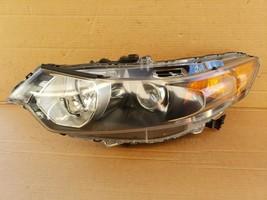 09-14 Acura TSX HID Xenon Headlight Head Light Driver Left LH POLISHED