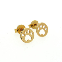 5 pairs of  Paw Golden Stud Earring Stud (NED093A) - $12.50
