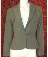 NWT MAX STUDIO brown peplum jacket 6  (T15-03K8G) - $49.48