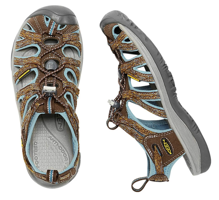 Keen Whisper Size 7 M (B) EU 37.5 Women's Sport Sandals Shoes Cascade Stone/Blue
