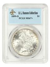 1899-O $1 PCGS MS67+ ex: D.L. Hansen - Beautiful Premium Gem - $10,379.00
