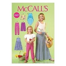 McCall's Patterns M7113 Children's/Girls' Skirts & Pants, Size CHJ (7-8-10-12-14 - $14.21