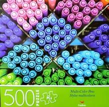 500 Piece Jigsaw Puzzle NIB Cardinal 14 in x 11 in, Multi Colored Stylis... - $4.75