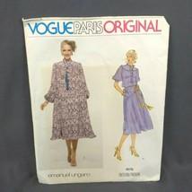 VTG VOGUE Paris Pattern 1876 Original Misses' Dress Sz 10 Emanuel Ungaro 1970's - $19.30