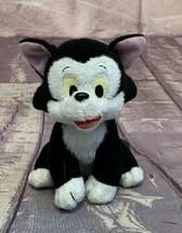 """Disney Pinocchio Figaro Plush Cat 7"""" Bean Bag Beanie Black White Kitty - $9.49"""