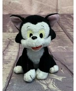 "Disney Pinocchio Figaro Plush Cat 7"" Bean Bag Beanie Black White Kitty - $9.49"