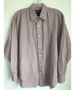 Ralph Lauren Womens 12 Red Striped Button Front Shirt Blouse Top - $9.89
