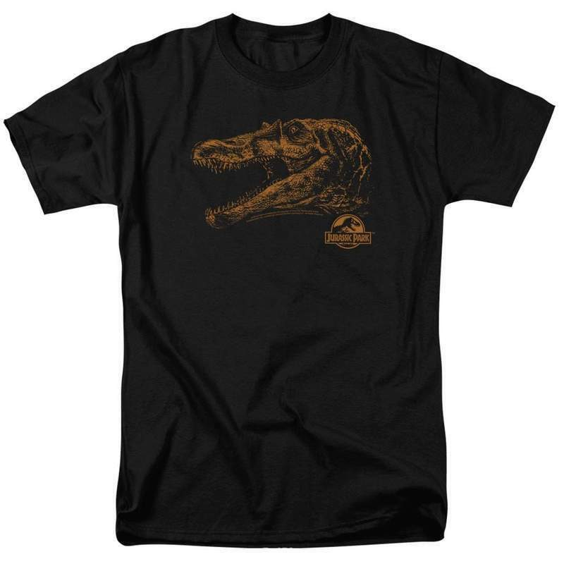 Jurassic Park t-shirt Sci-Fi  Movie T-Rex dinosaurs cotton graphic tee UNI181