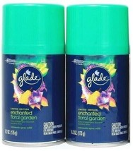 (2) Glade Limited Edition Enchanted Floral Garden Automatic Spray Refill... - $17.81