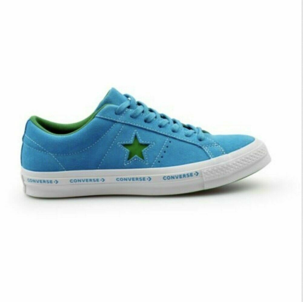 Primary image for Converse One Star Suede OX Hawaiian Ocean Shoes Blue 159813C Size 12 MSRP $80