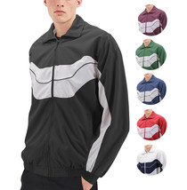 Men's Casual Running Working Out Jogging Gym Fitness Zipper Track Jacket image 1
