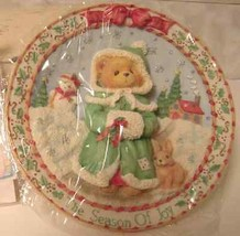 Cherished Teddies 1995 Season of Joy Plate 141550 - $26.72