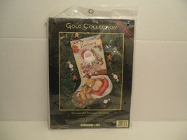 Dimensions Dreams of Christmas Stocking Kit 8497 Gold Collection RARE! NEW - $494.99