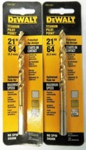 "Dewalt DW1387 21/64"" Titanium Pilot Point Drill Bit 2 Packs - $4.46"