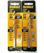 "Dewalt DW1387 21/64"" Titanium Pilot Point Drill Bit 2 Packs - $4.46"