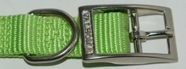 Valhoma 730 14 LG Dog Collar Lime Green Single Layer Nylon 14 inches Package 1 image 2