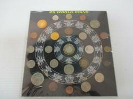 Vintage Sealed 25 World Coins Set Coin Album USA Nepal Sri Lanka Germany Bronze image 1