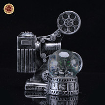 WR Antique Movie Projector  Snow Globe Light-Up Water Globe Dome Gift De... - $22.23