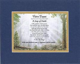Personalized Touching and Heartfelt Poem for Baptism - A Step of Faith P... - $22.72