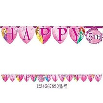 Disney Princess Sparkle Customizable Add An Age Banner 1 Ct Party Supplies - $7.87