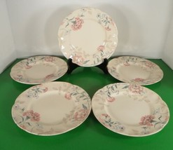 Johnson Brothers LYNTON Salad Plate (s) LOT OF 5 England Pink Blue Floral - $39.55