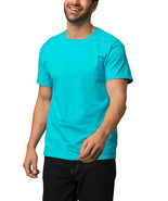 Fruit of the Loom Men's 360 Breathe Crew T Shirt Jubilant Turquoise Size... - $22.24
