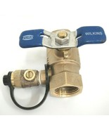 "Zurn Wilkins Ball Valve with Test Cock 850T 3/4"" 400 PSI Non-Potable Use... - $19.79"