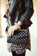 Rebecca Minkoff Quilted Affair Shoulder Bag in Black (H330I001) - $252.44