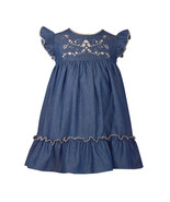 Bonnie Jean Lightweight Denim Dress with Embroidered Bodice, 2T-4T - $46.14 CAD