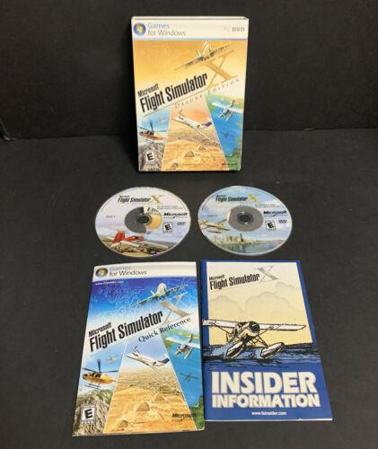 Microsoft Flight Simulator X Deluxe Edition Complete Big Box Slipcover Manual - $32.71