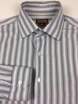 Michael Kors Mens Shirt Size M, Casual Dress White Black Striped Long Sl... - €8,15 EUR